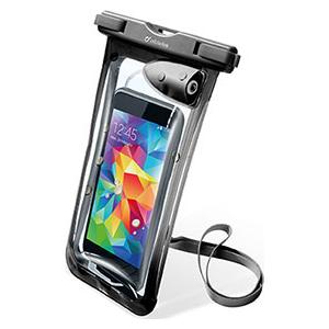"""Cellularline vee- ja tolmukindel kott mobiiltelefonidele kuni 5,8"""", 3,5mm pesa, must"""