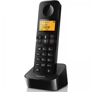 Philips D2101 juhtmevaba telefon, must