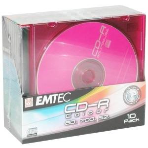 EMTEC DVD-R 4,7GB 16x slim 10pk värvilised EOL