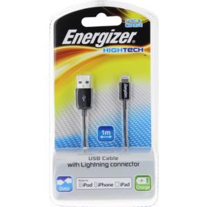 Energizer Hightech LIGHTNING kaabel Iphonele, must