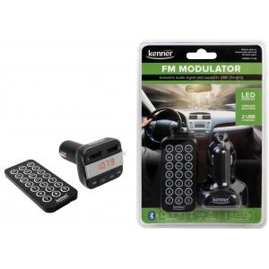 FM-transmitter Bluetooth, USB laadimispesaga