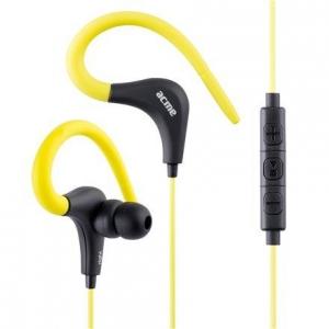 Kõrvasisesed sport klapid, mikrofoniga, kollased