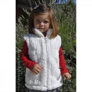 Laste karvane jakk-valge