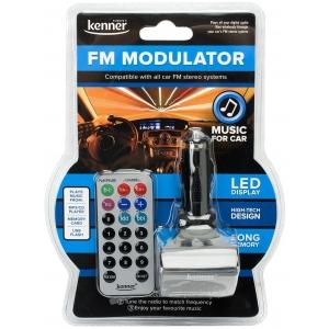 Kenner CMP12 FM-transmitter autosse. LCD ekraan