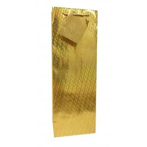 Pudeli kinkekott Gold Holographic