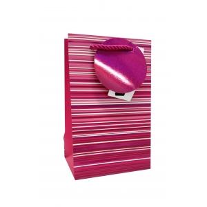 parfüümi kinkekott Pink Holo Stripes