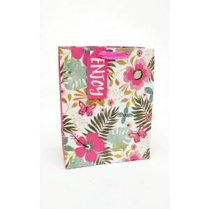 L kinkekott Tropical Neon Floral