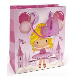 L kinkekott Fairy tüdruk õhupalliga roosa
