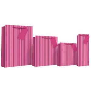 parfüümi kinkekott Pink Stripe Holo