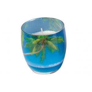 Lõhnasteariinküünal dek.klaasis,Bahama B