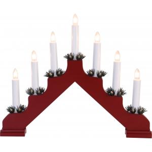 Advendi küünlajalg ADA, 7XE10 tuld, punane