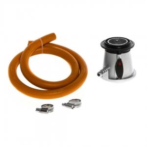 Gaasiballooni regulaator Mustang 30mbar 1kg/h kiirlukustus +Voolik 1,2m/10mm, -30*c+voolikuklambrid 2tk.
