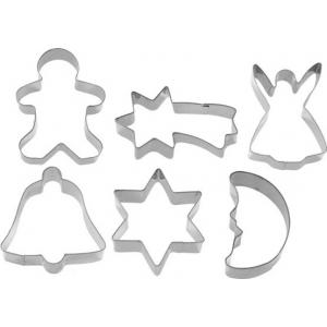 Piparkoogivormide 6-osal. komplekt