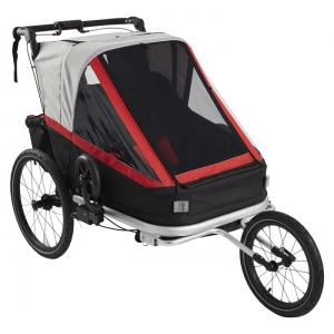 Jalgratta lastekäru 3in1, 2le lapsele