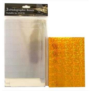DVD kinkekarbid 3tk kuldne (14x19x1,8cm)