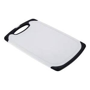 Lõikelaud 31*20*1cm must&valge plastic