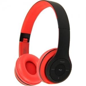 Kõrvaklapid Bluetooth,suured, punased