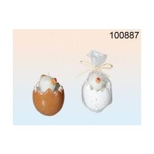 Küünal kana keraamiline muna, 9x6,5cm