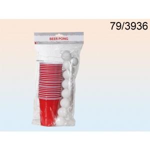 BeerPong, 15 palli ja 22 topsi 550 ml