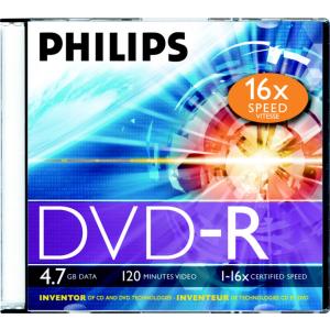 DVD-R Philips 4,7GB/16X slim karp EOL