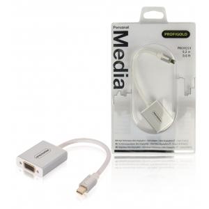 Profigold PROM201 Adapter MAC Mini DP otsik - VGA pesa 0,2m