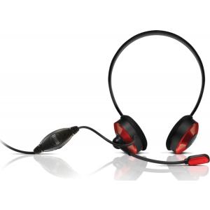 Sweex kõrvaklapid mikrofoniga, punased EOL
