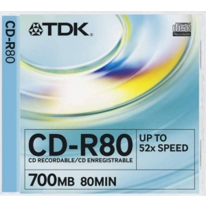 TDK CD-R 52x 80min/700MB Slim
