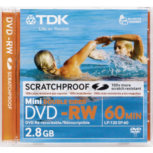 TDK DVD-RW 2,8GB MINI, Double Sided,Scratchproof EOL