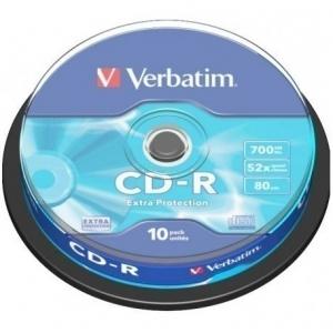 Verbatim CD-R 52x 80min/700MB 10-ne torn Extra Protection