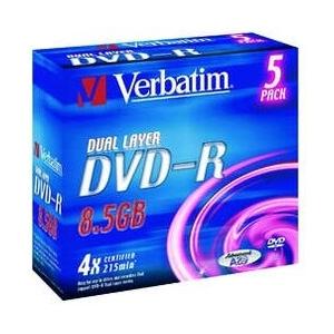 Verbatim DVD-R 8,5GB/4x jewel, Dual Layer