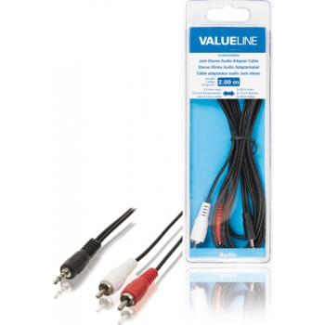 Valueline VLAB22200B20 3,5mm otsik - 2x RCA pistik, 2m
