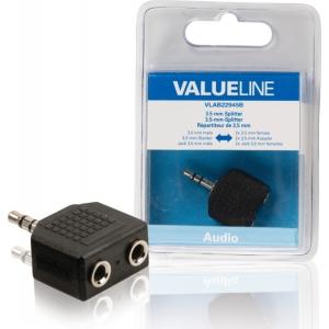 Valueline VLAB22945B 3,5mm otsik - 2x 3,5mm pesa
