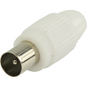 Antenniotsik Coax, kilekotis, 2tk, valge