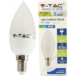 LED lamp E14/5,5W/470lm/Candle