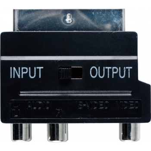 Valueline VVP765 Adapter SCART otsik- 3xRCA/SVHS pesa