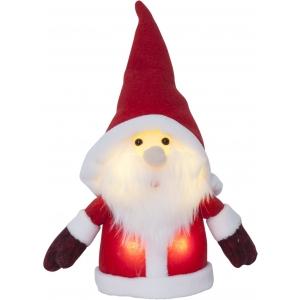 Väike Päkapikk. H24cm. 4 sooja valget LED tuld, pat.toide 3xAAA (ei kuulu kompl), or.tööaeg 200h, 4,5V DC/0,24W, IP20