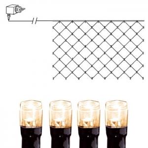 Valgusvõrk 90 soe-valge LED tulega, 2x1m, 10m kaabel, tulede vahe 23cm, 230V-24V DC, IP44
