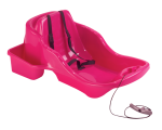 Baby sled Belli Baby, 50 x 74 x k.32 cm, lashing straps, integrated cord with handle, (fuxia, orange) / 4/120