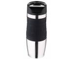 Thermo mug 400ml rv Black-silicone coating, in a gift box