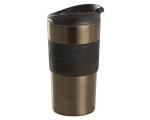 Thermo mug 400ml rv Black-silicone coating / 12