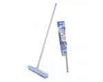 Floor brush with rubber bristles, telescopic handle BACTERIA STOP