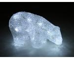 Acrylic Polar Bear with 20 white LED lights / 10 18 * 8.5 * 11cm