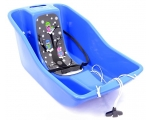 Baby sled Rocko Baby Owl, BLUE, with insulated seat 69x41x31cm