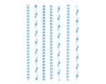 Kõrred Dots & Chevron sinine 19,7cm, 24tk/ 12