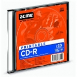 ACME CD-R 700MB 52x print Slim 1tk. EOL