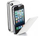 Cellular iPhone 5 ümbris, Flap (magnetiga), valge EOL