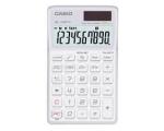 Casio SL1100TV pocket calculator 10 digits, solar / battery powered white EOL