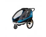 Hamax jalgratta järelkäru ja lapsevanker TRAVELLER, 2 istet, hall/sinine