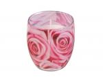 Lõhnasteariinküünal dekoreeritud klaasis, Bulgarian Rose EOL