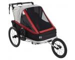 Jalgratta lastevanker 3in1, 2le lapsele